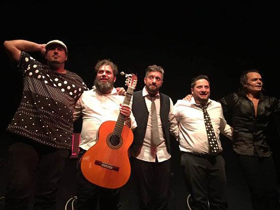 grupo musicos presentacion Rios Flamencos
