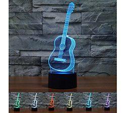 Lampara mesa con forma de guitarra