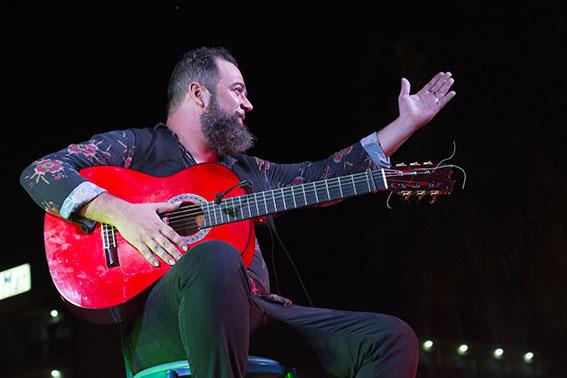 saludo flamenco del guitarrista